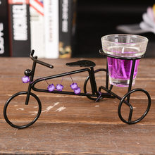 Decorative Wax Candles Metal Candlestick Bike Model Candles With Dinner Rommantic Love Couple candles for the cake Birthday(China)
