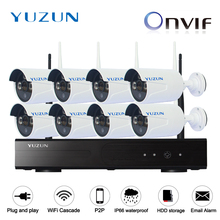 1080P wireless cctv kits 8ch  IP Video Security CCTV kits  WIFI Surveillance System outdoor indoor cascade mode 2MP CCTV CAM