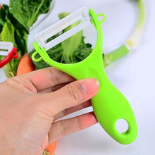все цены на Vegetable Fruit Peeler Knife Colorful Fruit Slices Vegetable Potato Apple Peeling Ceramic Peeler Tools  Kitchen Helper онлайн