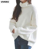Women Turtleneck Winter Warm Thick Pullover Feminino Women Sweaters And Pullovers Female White Cashmere Knitted Winter