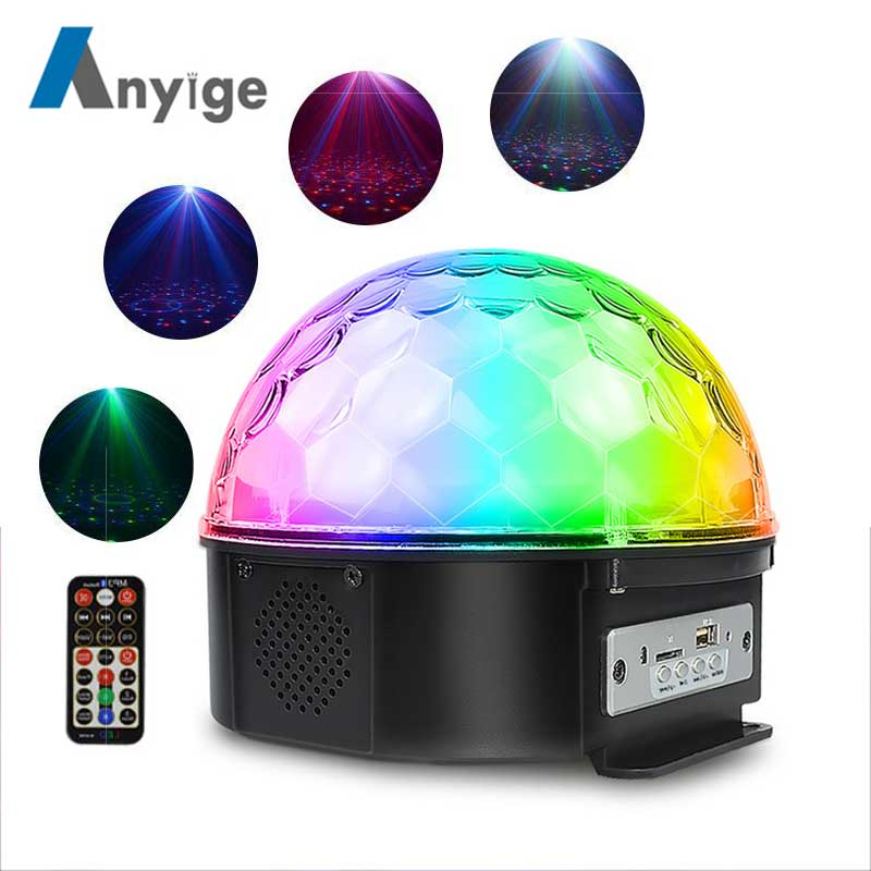 ANYIGE 25W LED Stage Light Support Bluetooth 9 Colors Stage Lighting Effect Remote Control 3 Sound Control Modes Party LightANYIGE 25W LED Stage Light Support Bluetooth 9 Colors Stage Lighting Effect Remote Control 3 Sound Control Modes Party Light