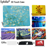 Sykiila Case For Macbook Air 11 13 Pro 12 13 15 Cover Oil Art Painting Shell A1706 A1707 A1708 Touch Bar Stars Diy Custom Made