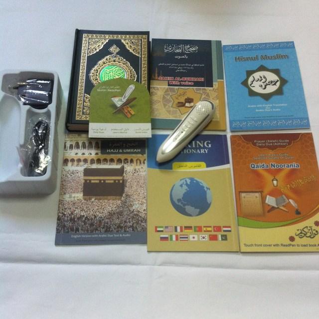 Envío gratis islámica sagrado corán reading pen PQ15 con voz palabra por palabra inglés árabe traducción urdu