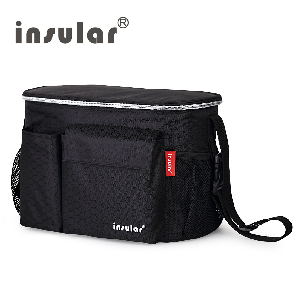 Insular Brand Thermal Insulation Baby Diaper Bags For Strollers Waterproof Nappy Changing Bags Mommy Stroller Bags Cooler Bags