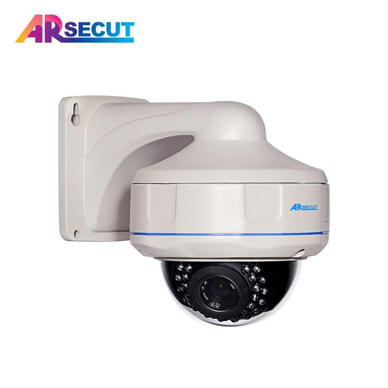 Onvif 2.0 Megapixel Network POE IP Camera 1080P HD Night Vision Outdoor Vandal-proof Dome Security Camera CCTV With Email Alert onvif cctv h 264 1 3 megapixel hd network outdoor waterproof ip camera with poe 4 array ir led 6mm night vision security