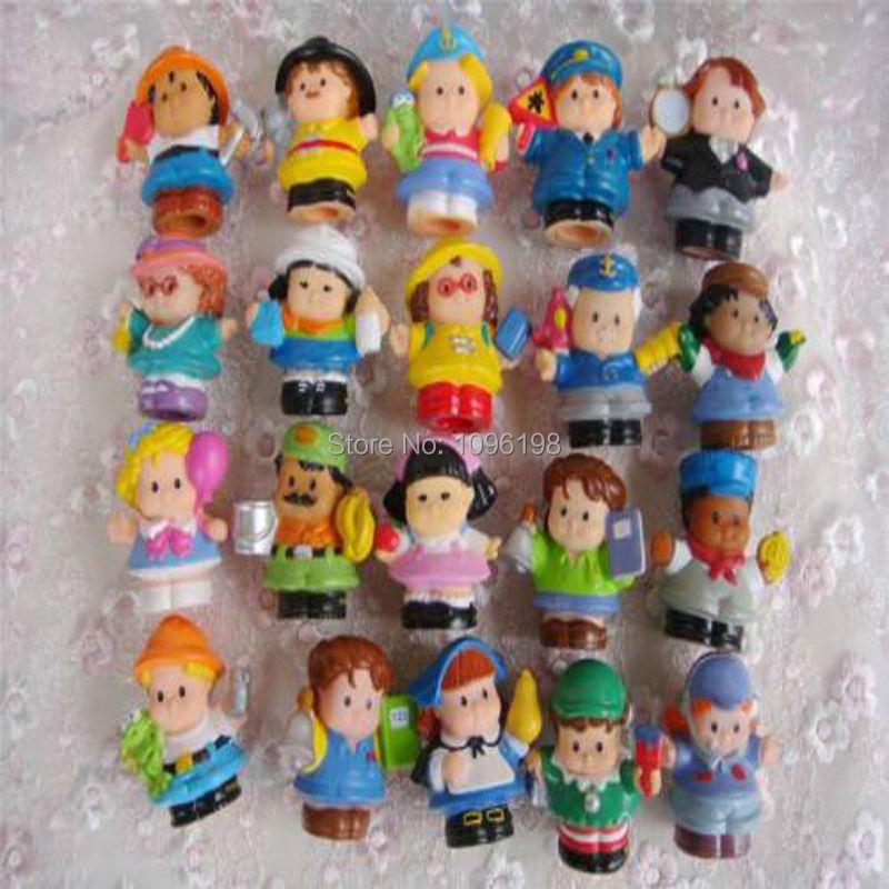 Random 10pcs Lot Baby Toys Fisher Price Little People 2/'/' Figures Girl Boy Dolls