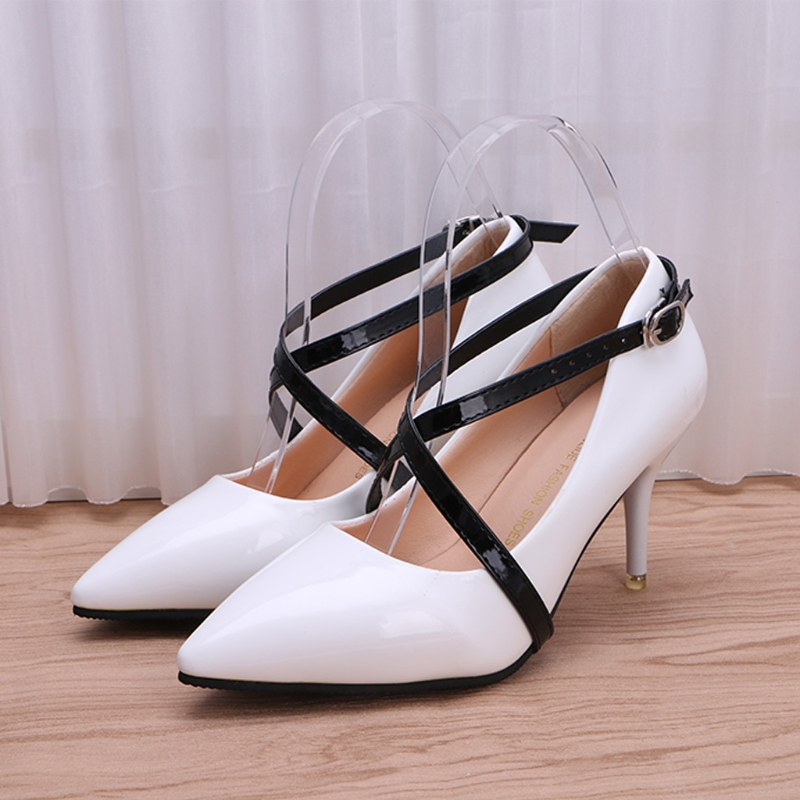 2018 Women Leather Shoelaces Intersectant Shoe Strings Long Ankle Strap Replacement Accessories For High Heel New Solid