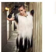 2016 new arrive hot selling Fashion o-neck Genuine Coat fur Vest  Women wholesale Retail OEM Drop-shipping Top Quality CW2929