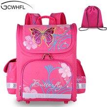 f117656e150a GCWHFL детей школьные ранцы обувь для девочек ортопедические бабочка дизайн  принцесса детский школьный рюкзак ранец,