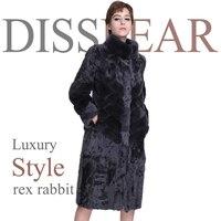 Женское пальто из натурального меха воротник мандарин 100 см Натуральная овечья шерсть х длинная куртка Женское зимнее теплое пальто натура