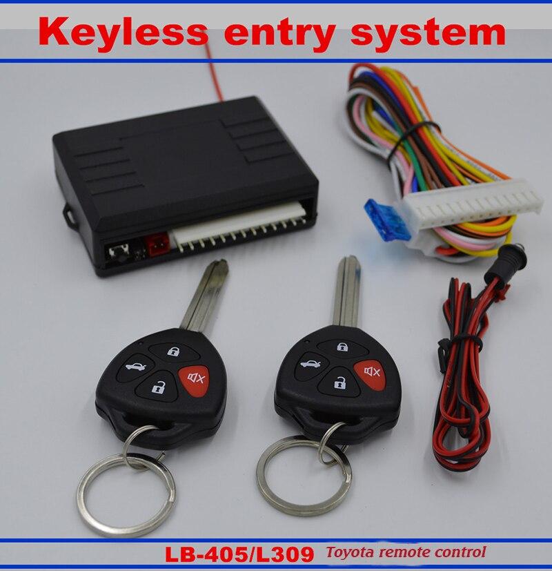 Nouvelle Voiture De Verrouillage Central Automatique de Kit Système D'entrée Sans Clé De Voiture Télécommande Émetteur de Sortie Contrôleurs Système D'alarme De Voiture Pour Toyota