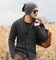 MEZCLA rebecas de los hombres suéteres de LOS HOMBRES del diseñador de la marca 2016 moda masculina de navidad de punto prendas de punto cardigan botón de calidad Superior abrigo