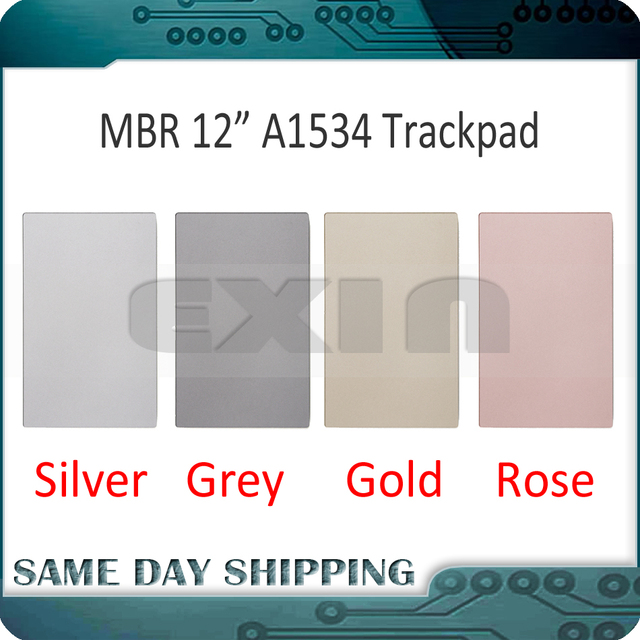 "New for MacBook Retina 12"" A1534 Touchpad Trackpad  Space Grey Gray/Silver/Gold/Rose Gold Pink Color 2015 2016 2017 Years"