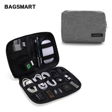 BAGSMART Waterproof Travel Wire Bag Electronic Accessories For iPhone Earphone Data Cable SD Card USB