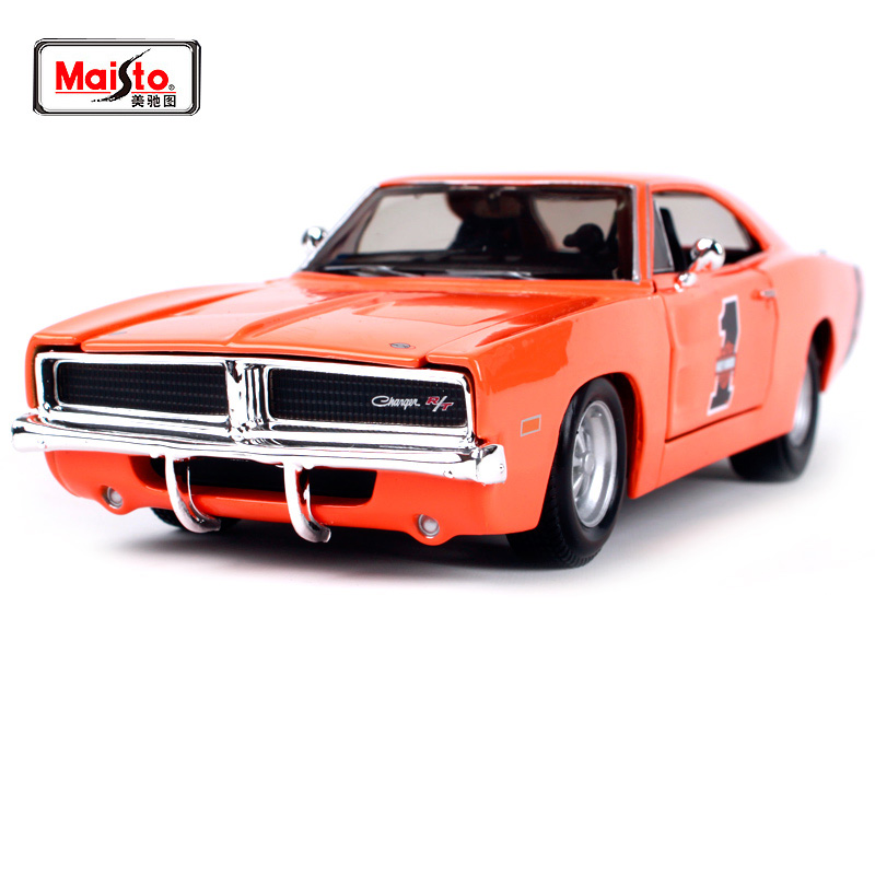 Maisto 1:25 1969 DODGE CHARGER R/T Modern Muscle Involving Cars Old Car Diecast Model Car Toy New In Box Free Shipping image
