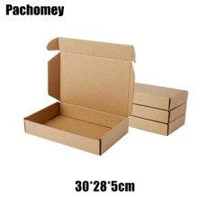 Оптовая продажа, 30*28*5 см, 10 шт./лот, коричневая крафт бумага, упаковка, коробка для хранения онлайн покупок, экспресс доставка, почтовая коробка PP776boxes for party favorsbox soundbox frames for photos  АлиЭкспресс