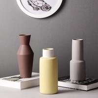 1pc Modern Matte Color Flower Vase Water Planting Vase Geometric Jug Vase for Home Decor Living Room