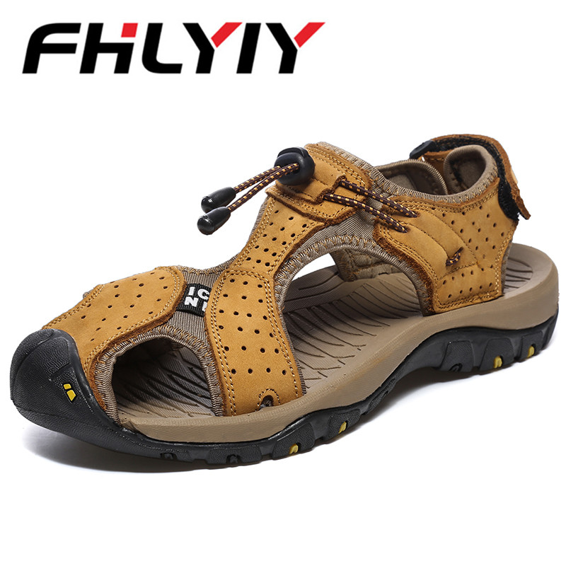 Summer Men Leather Sandals Summer Soft Male Sandals Shoes For Men Breathable Light Beach Casual Quality Walking Sandal Zapatos