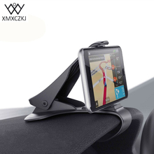XMXCZKJ Car Phone Holder Stand Adjustable Clip Car Soft Anti Slip Mobile Phone Holder GPS Bracket For iPhone Samsung Huawei HTC