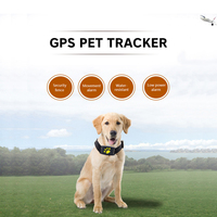 Waterproof GPS dog cat collar pet GPS tracker Callback function USB charging