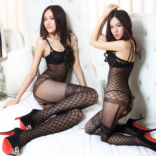 Sexy Meias Calças Justas Mulheres Feminino Meias Sheer Meias Stocking Straps Discotecas Virilha Aberta Arrastão Preta Lotação C1723