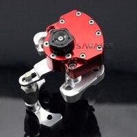Для Ducati Monster 1100 EVO 2011 2012 2013 красный мотоцикл Регулируемая рулевая демпфер стабилизатор с кронштейн