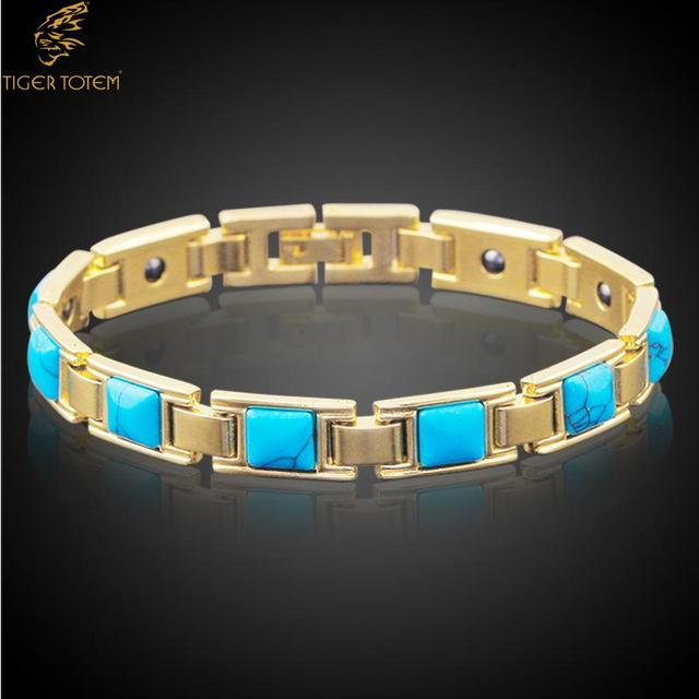 New Fashion Jewelry Top Hot Por Natural Stone Bracelets Bangles Women Copper Magnetic Health Bracelet Free
