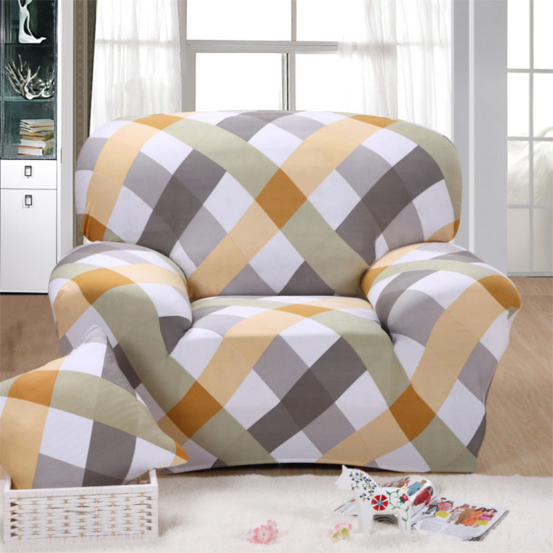 Single Couch Chair Cover Infant Sleeper Polyester Elastic Sofa Printed Modern Dust Proof Loveseat Funiture Home Two Three Four Seater