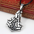 2016 New Assassins Creed Jewelry Hidden Blade Cosplay Necklace Rope Chain Assassins Creed 3 Costume Pendant Punk Jewelry
