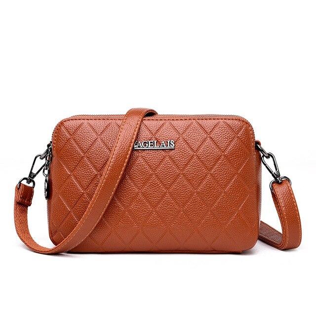 80b4b797bf Chu JJ Vintage Women s Genuine Leather Handbags Shoulder CrossBody Bags  Ladies Messenger Bag Fashion Plaid Women Bags