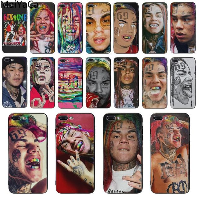 Maiyaca Hip Hop Rapper Tekashi 69 6ix9ine Black Silicone Cover Case