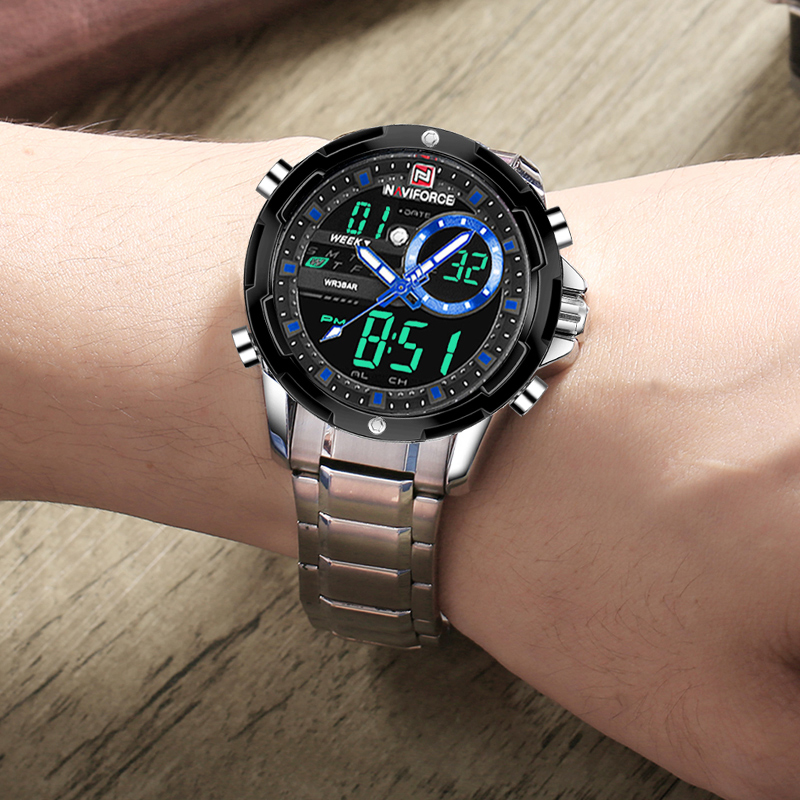Top Brand NAVIFORCE Men's Fashion Business Analog Quartz Wrist Watch