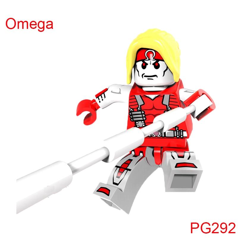 Building Blocks Domino Forge Omega Sunfire Super Heroes Star Wars Bricks Kids Diy font b Toys