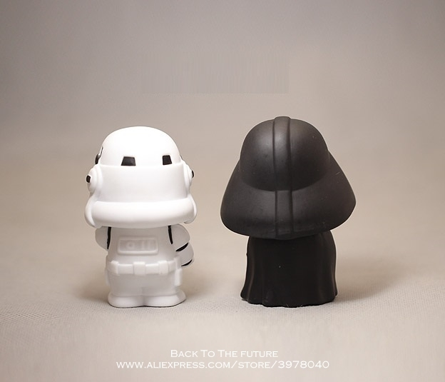 Disney Star Wars 10cm Anime Figure doll Action Force Awakens Black Series Darth Vader toys model For children gift 2