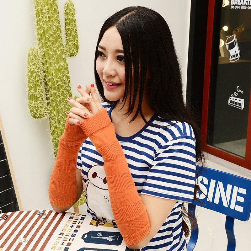 Bekleidung Zubehör Willensstark Mode Frauen Einfarbig Baumwolle Stricken Handschuhe Dünne Handgelenk Arm Wärmer Halbhand Frühling Handschuh Armstulpen