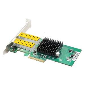 Image 4 - DIEWU 2 יציאת SFP רשת כרטיס 1G סיבים אופטי רשת מתאם PCIe 4X שרת Lan כרטיס עם אינטל 82576