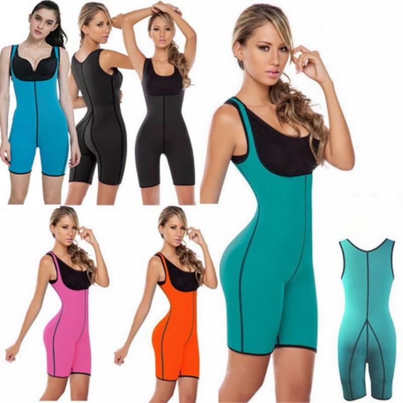 Women Running Suits Sauna Jumpsuit Bodysuit Sauna Suit Neoprene Women's Slimming Body Shapers Sport Waist Trainer Shapewear YG02