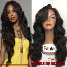 Wholesale Free Part Wig 180% Full Brazilian Synthetic Hair Lace Front Wig #1b Black Lace Wigs Body Wave Heat Resistant Lace Wigs