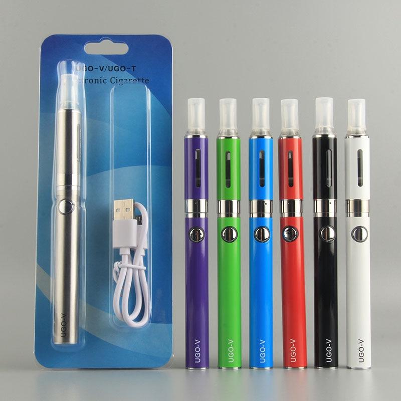 UGO-V Electronic Cigarette kit 650/900mah ugo v II vape pen evod battery 2.4ml mt3 atomizer e cigarette 510 thread starter kit цена