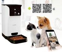Smart pet Feeder Pet wifi 2,4 ГГц камера Поддержка дистанционно кормления расписание широкоугольный объектив двухстороннее аудио ночное видение для IOS
