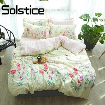 Solstice Home Textile 2018 fashion and new comfort active printing and dyeing landscape bedbed pillowcase suite bed linen 3/4pcs
