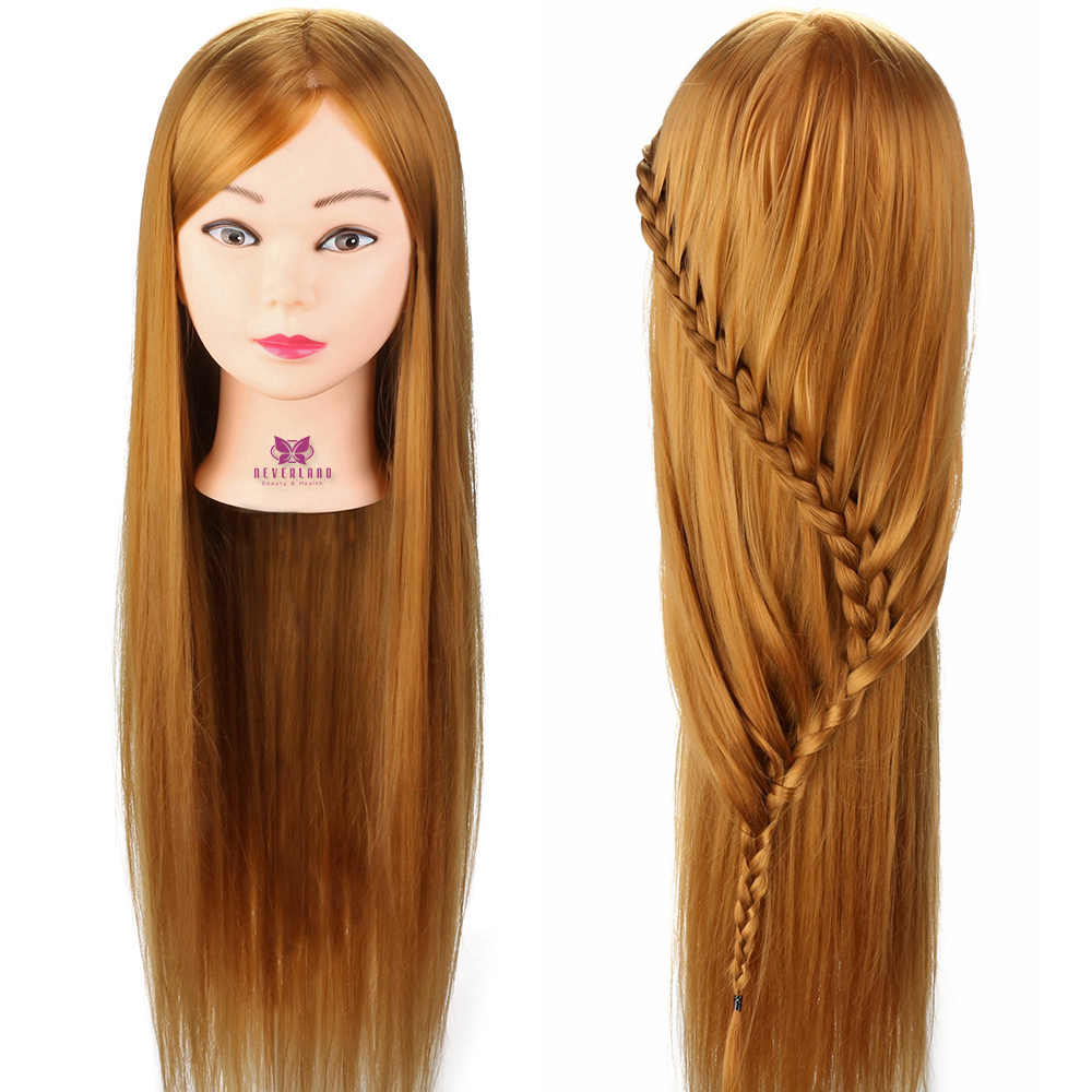 salon mannequin head 30'' hairstyles doll hairdressing cosmetology styling training head salon hairstyle design + clamp