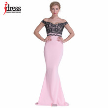 35666592cfc IDress Club Factory High Quality Runway Designer Maxi Evening Party Dress  Summer Off Shoulder Pink Patchwork