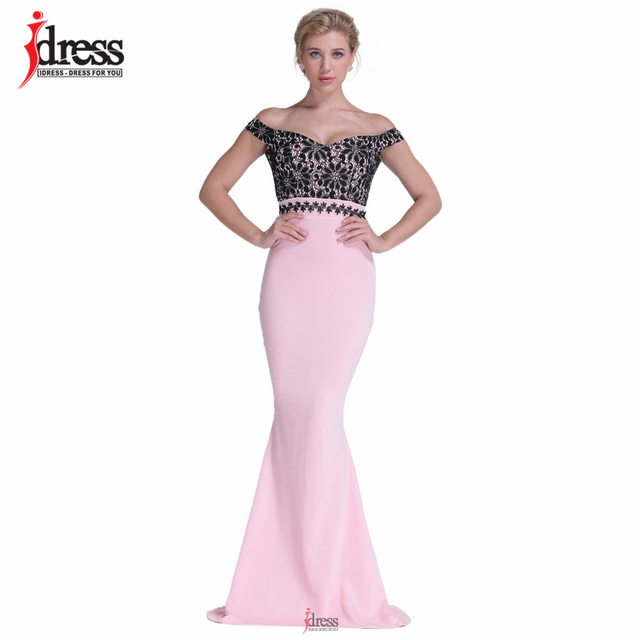 f2ab3c8d0283 IDress Club Factory High Quality Runway Designer Maxi Evening Party Dress  Summer Off Shoulder Pink Patchwork