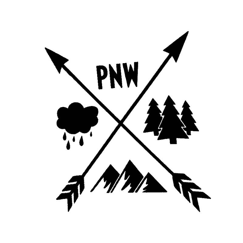 PACIFIC NORTHWEST VINYL DECAL STICKERS WINDOW USA SELLER EXPLORE PNW NORTHWEST