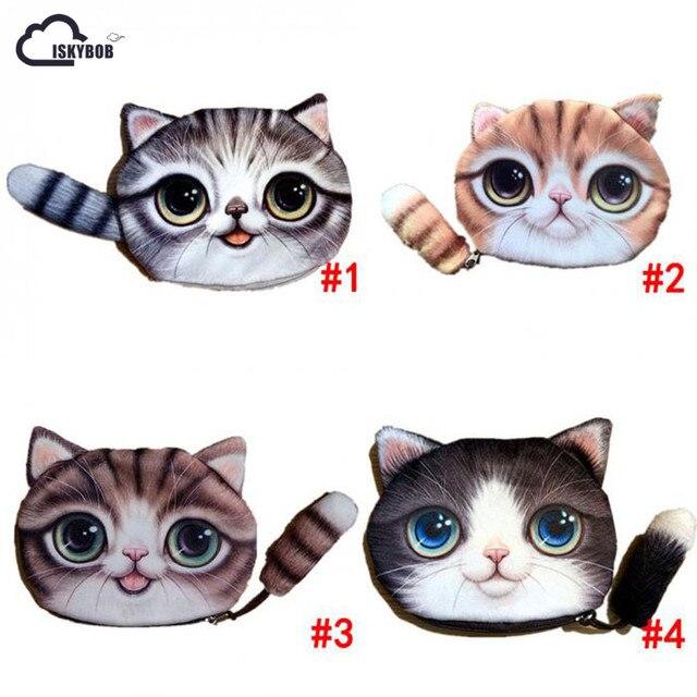 ISKYBOB Niedlichen Tier Cartoon 3D Katze/Hund Gesicht Tasche münze ...