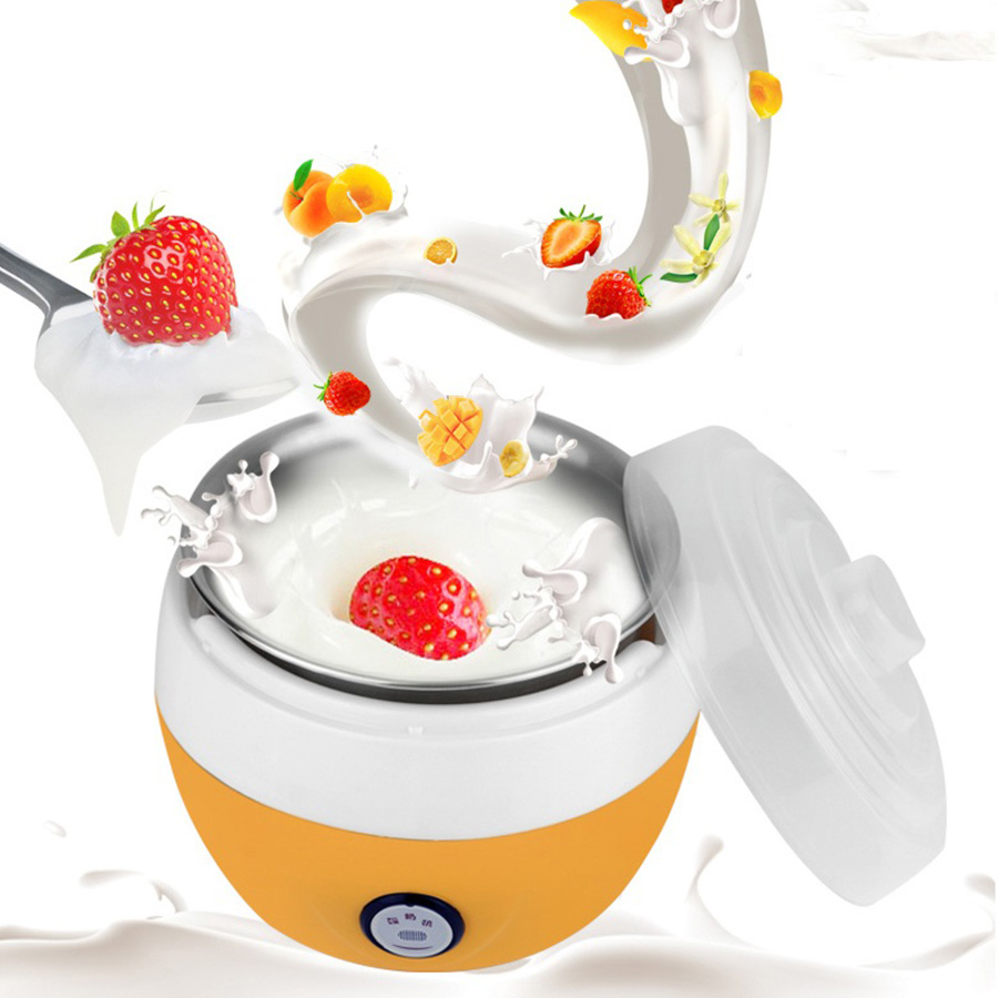 Electric Yogurt Maker Multifunction Automatic Plastic or Stainless Steel Liner Yogurt Maker Mini Automatic Home Yogurt Machine hot selling electric yogurt machine stainless steel liner mini automatic yogurt maker 1l capacity 220v