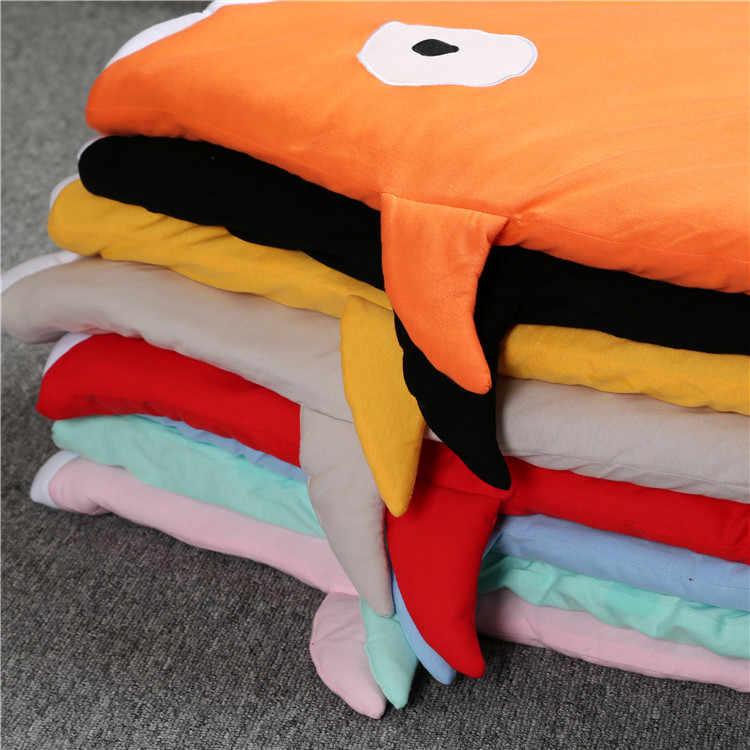 جديد أسود الكرتون القرش النوم أكياس الوليد عربة أطفال الشتاء الفراش الدافئة جميلة النوم أكياس القطن لينة يغطي cobertor