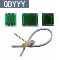 QBYYY 1 set for mercedes lcd display fading pixel fix tool W210 W202 W208 flat cable soldering tip rubber strip