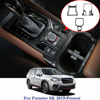 For Subaru Forester SK 2019 Car Styling Gear Panel Sequins Gear Shift Panel Protection Cover Post Card Parking Sequins Sticker